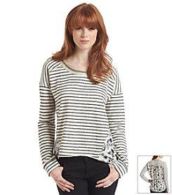 Jolt® Striped Mixed Terry Tee