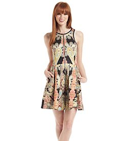 Romeo & Juliet Couture® Quilted Paisley Scuba Dress