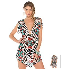 Becca® Southwest Print Tunic Swim Coverup