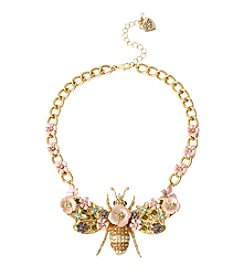 Betsey Johnson® Goldtone Queen Bee Frontal Necklace