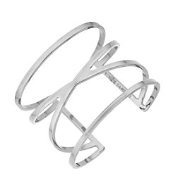 Vince Camuto® Silvertone Double V Cut Out Cuff Bracelet