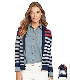 Lauren Jeans Co.® Full-Zip Striped Hoodie