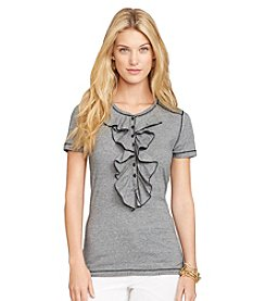 Lauren Jeans Co.® Ruffled Short-Sleeved Henley