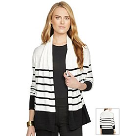 Lauren Jeans Co.® Striped Shawl-Collar Cardigan