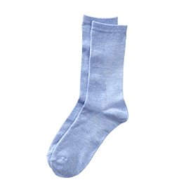 Relativity® Blue Crew Socks