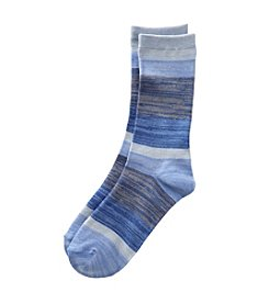 Relativity® Ombre Stripe Crew Socks