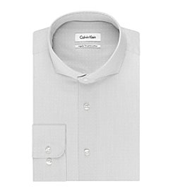 Calvin Klein Men's Regular Fit Dobby Stripe Dress Shirt