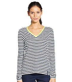 Lauren Active® Striped V-Neck Shirt
