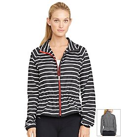 Lauren Active® Striped Full-Zip Jacket