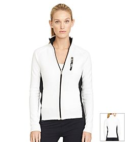 Lauren Active® Combed Cotton Mockneck Jacket