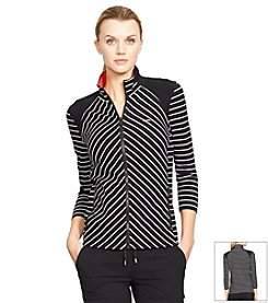 Lauren Active® Striped Mockneck Jacket