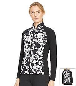 Lauren Active® Floral-Print Track Jacket