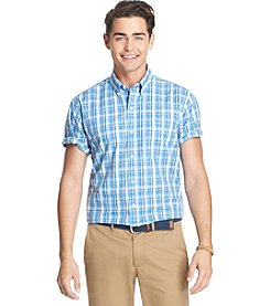 Izod® Men's Short Sleeve Medium Plaid Woven Shirt