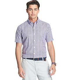Izod® Men's Short Sleeve Small Plaid Woven Shirt