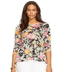 Lauren Ralph Lauren® Plus Size Linen Floral Shirt