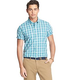 Izod® Men's Big & Tall Short Sleeve Plaid Woven Shirt