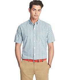 Izod® Men's Big & Tall Short Sleeve Plaid Woven Shirt