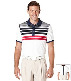 PGA TOUR® Men's Short Sleeve Printed Stripe Polo