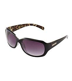 Nine West® Medium Rectangle Leopard Sunglasses
