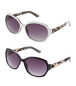 Nine West® Oval Acetate Temple Sunglasses