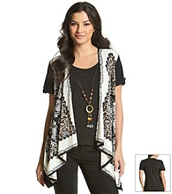 Notations® Multi Print Layered Look Top