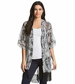 Cejon® Paisley Fringe Kimono