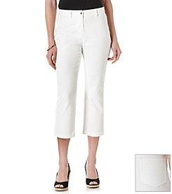 Rafaella® Slub Twill Skinny Crop Pants