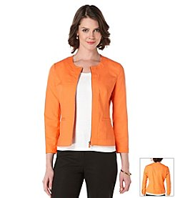 Rafaella® Zip Front Doubleweave Jacket