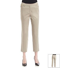 Jones New York Signature® Front Zip Sateen Capri