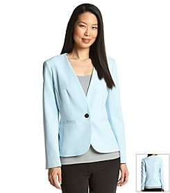Nine West® One Button V-Neck Jacket