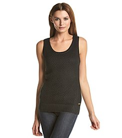 Calvin Klein Sleeveless Openstitch Sweater