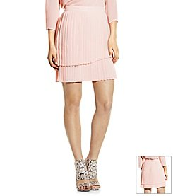 Vince Camuto® Pleated Faux Wrap Skirt