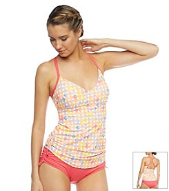Beach House® Racer Back Adjustable Side Tankini