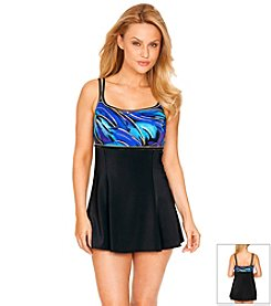 Longitude® Parakeet Empire Swim Dress