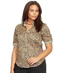 Lauren Ralph Lauren® Plus Size Leopard-Print Workshirt