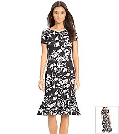 Lauren Ralph Lauren® Floral Belted Peplum Dress