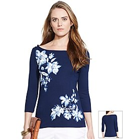 Lauren Ralph Lauren® Floral Crop-Sleeved Top