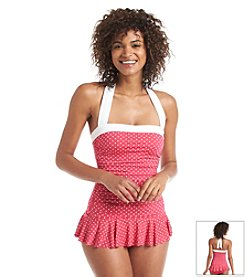 Lauren Ralph Lauren® Polka Dot Skirted Swim One Piece