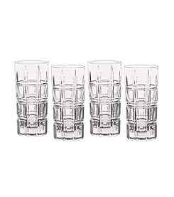 Marquis by Waterford® Crosby Plaid Set Of 4 Highball Glasses