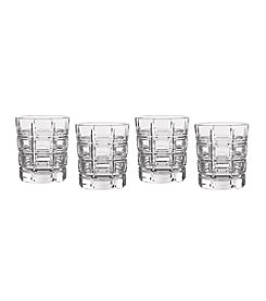 Marquis by Waterford® Crosby Plaid Set of 4 Double Old Fashioned Glasses