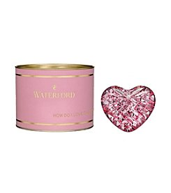 Waterford® Pink Giftology Lismore Pink Heart Paperweight