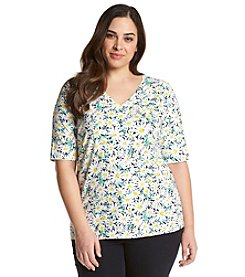 Jones New York Sport® Plus Size Daisy Print Tee