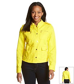 Jones New York Signature® Petites' Fitted Utility Jacket