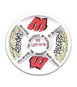 NCAA® University of Wisconsin Divided Veggie Plate