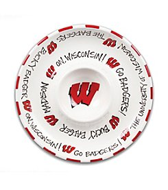 NCAA® University of Wisconsin Circle Chip n' Dip Plate