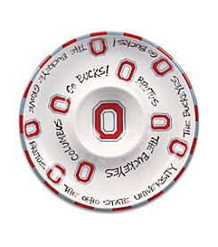 Ohio State University Magnolia Lane Circle Chip & Dip Plate