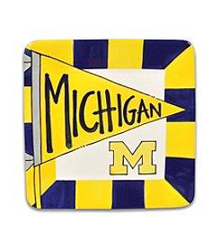 University of Michigan Magnolia Lane Small Flag Square Plate
