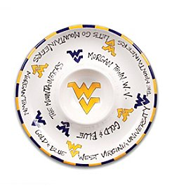 NCAA® West Virginia University Circle Chip & Dip Plate