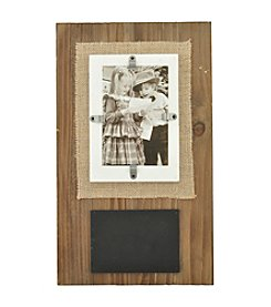 Sheffield Home® Chalk With Burlap And Wood Frame