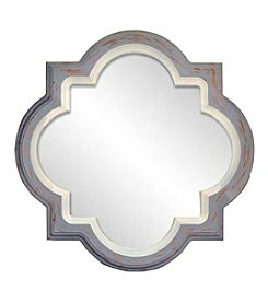 Sheffield Home® Quartrefoil Grey And White Mirror